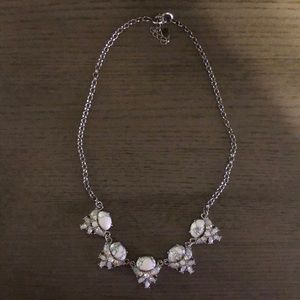 LOFT Jewelry - LOFT Silver and rhinestone statement necklace